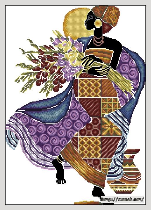 "схему вышивки ""Африканка"""