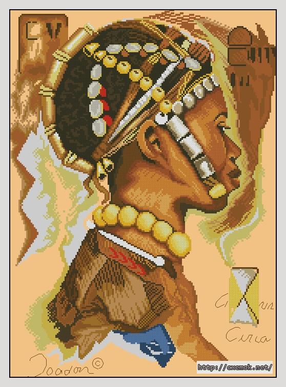 """Сачать схему вышивки """"African"""