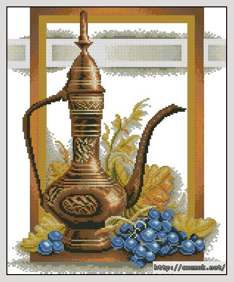 Натюрморт с виноградом150x182