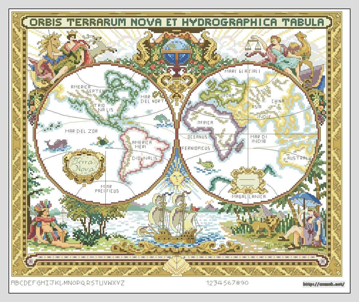 Старинные карт вышивка схемы