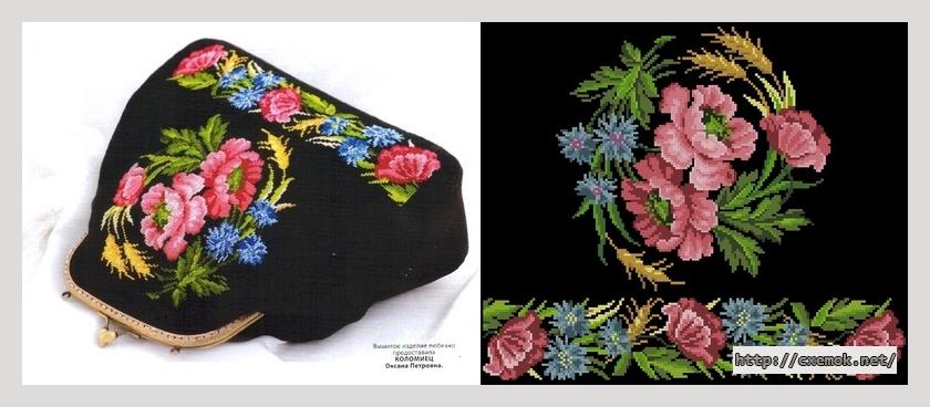 """Сумка """"бал цветов""""180x151"""