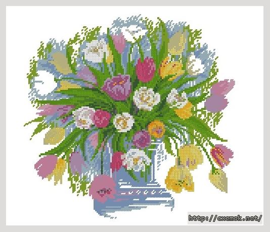 тюльпаны143x139 крестов26