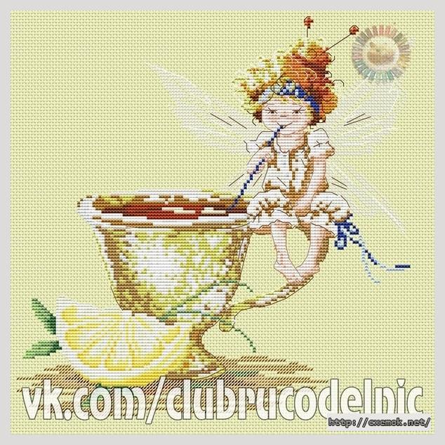 Схема вышивки чашки чайные