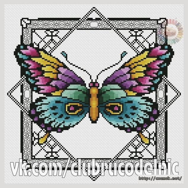 Бабочка шоколадница вышивка схема 75