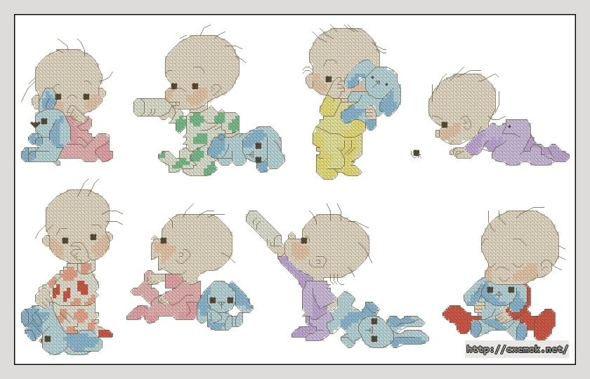 Babies156x94 крестов17 цветов
