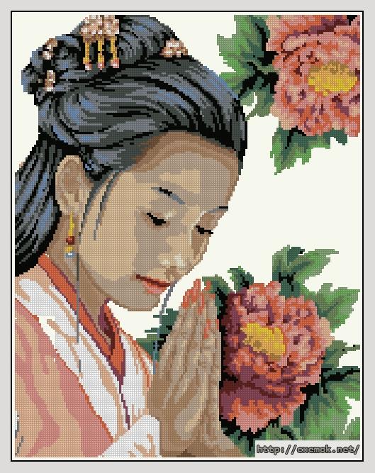 Geisha166x212 крестов26 цветов