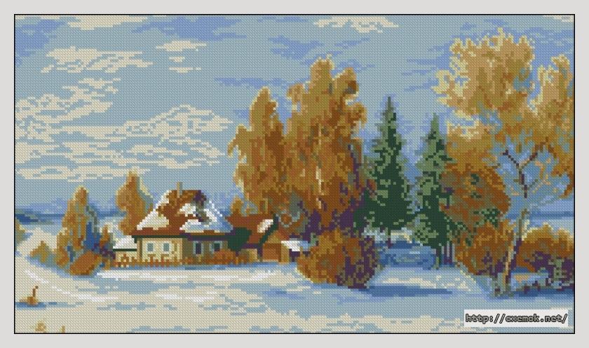 Зимний пейзаж210x120 крестов21
