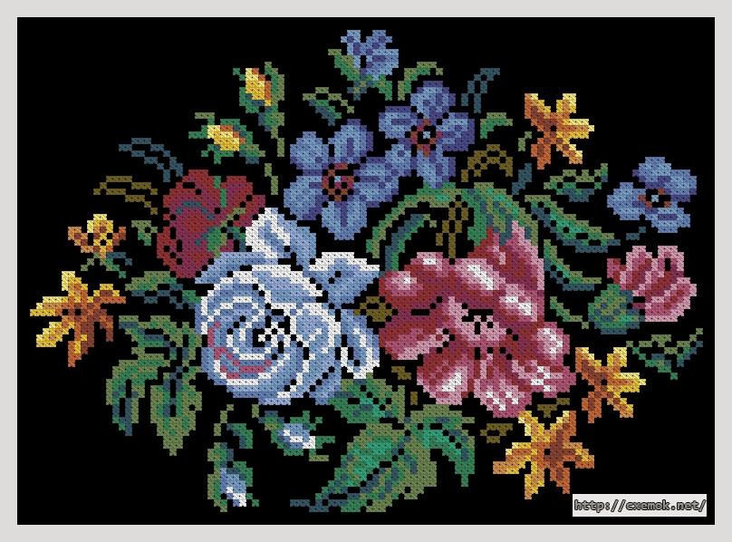 Радость110x80 крестов19 цветов