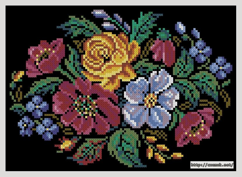 Цветы113x81 крестов18 цветов