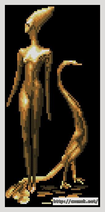 Девушка с павлином62x131