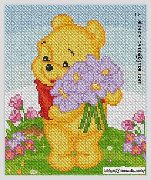 Pooh100x120 крестов24 цветов