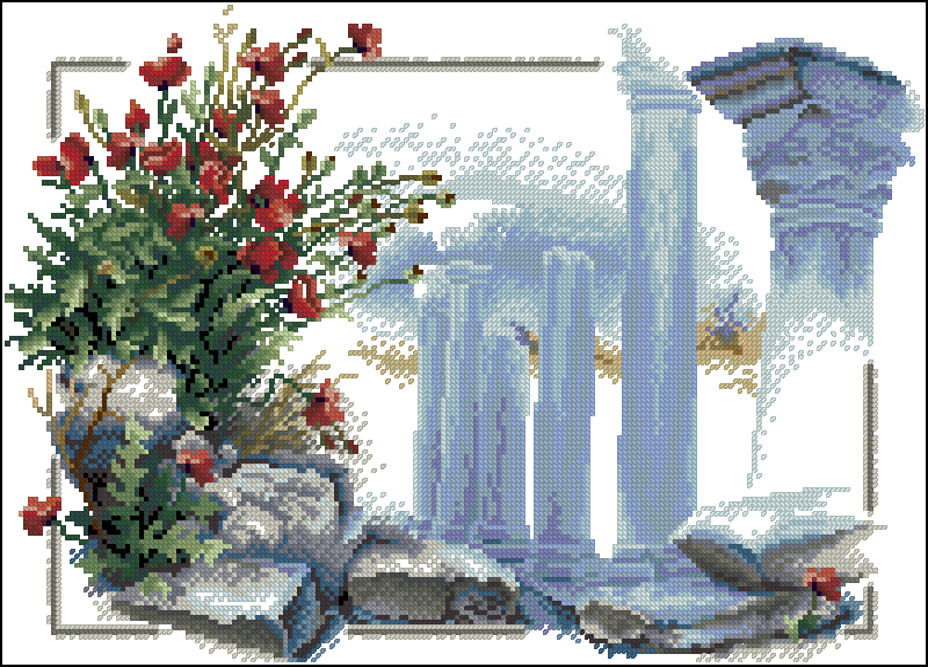 Cхемы схема вышивки храм