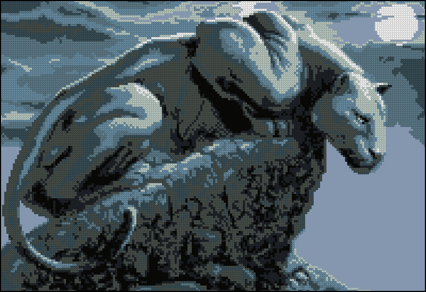 Черная пантера200x134 крестов8
