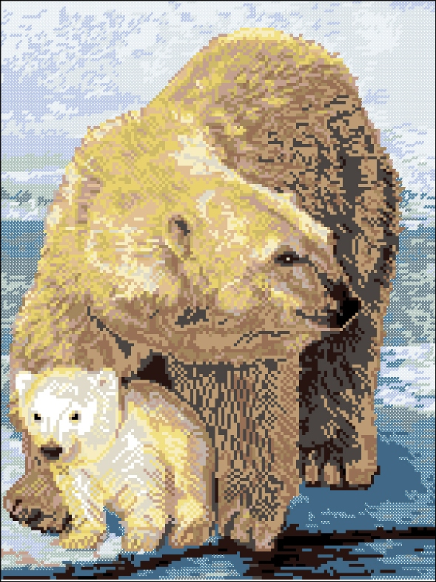 Белые медведи140x189 крестов24