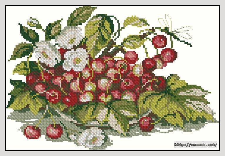 Черешня146x99 крестов14 цветов