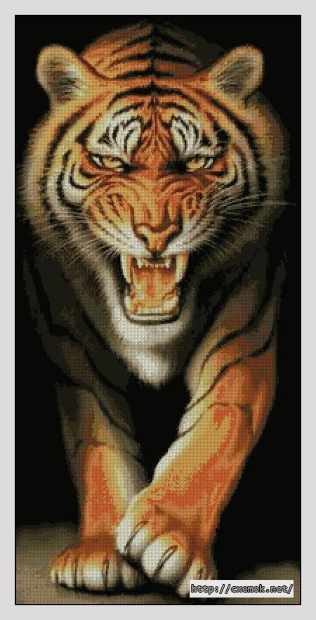 """Сачать схему вышивки """"Тигр"""""""