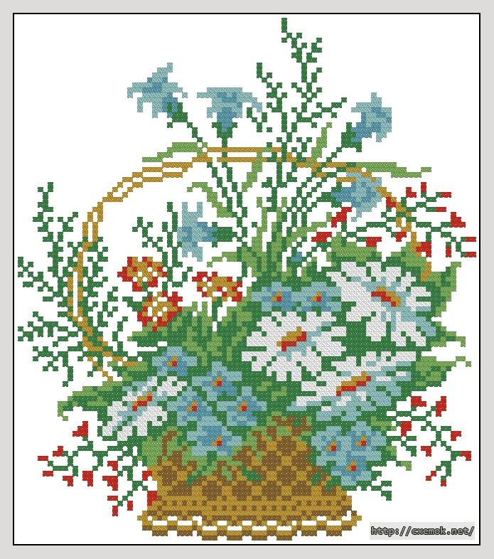 Цветы в корзине92x105 крестов8