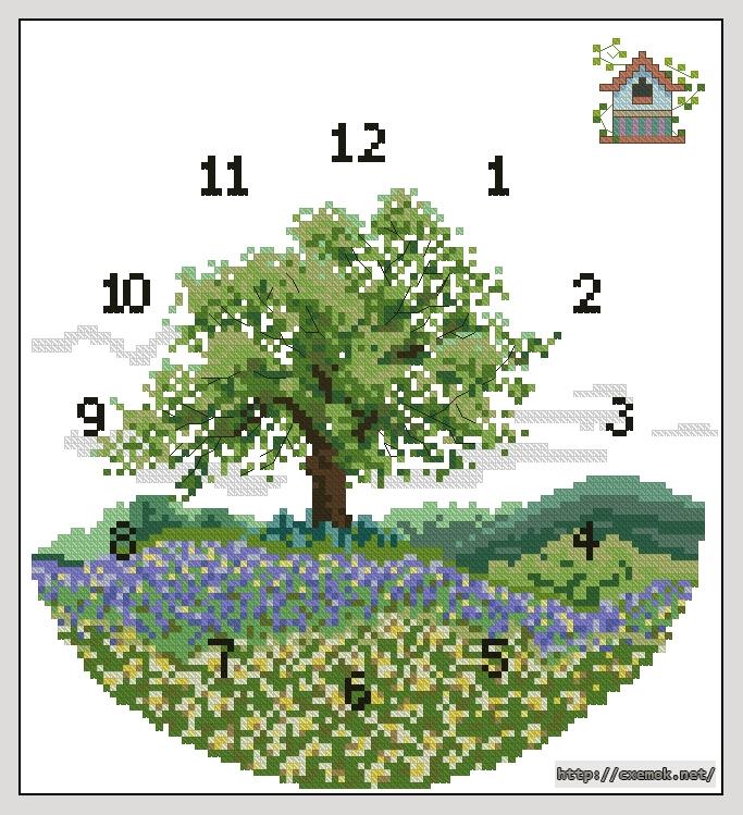 Cхемы часы вышивка крестом