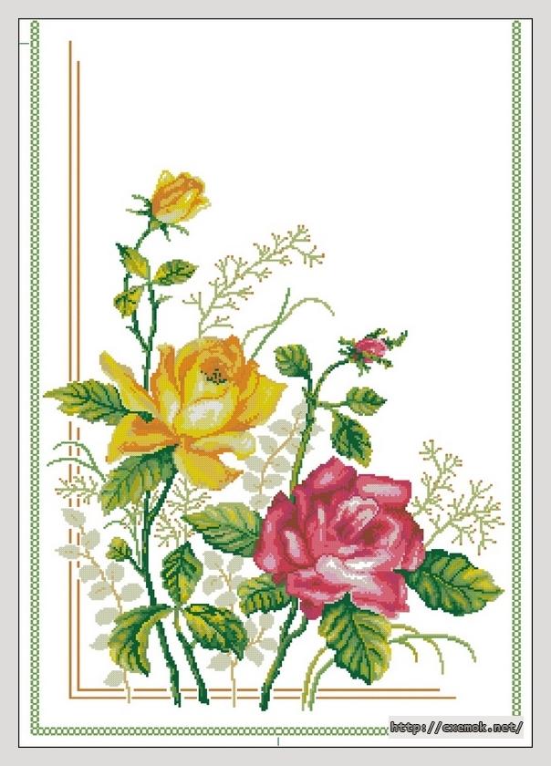 Розы (узор для дорожки)248x693