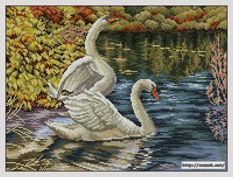 Лебеди190x142 крестов51 цветов