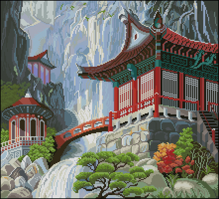 Водопад и пагода221x200