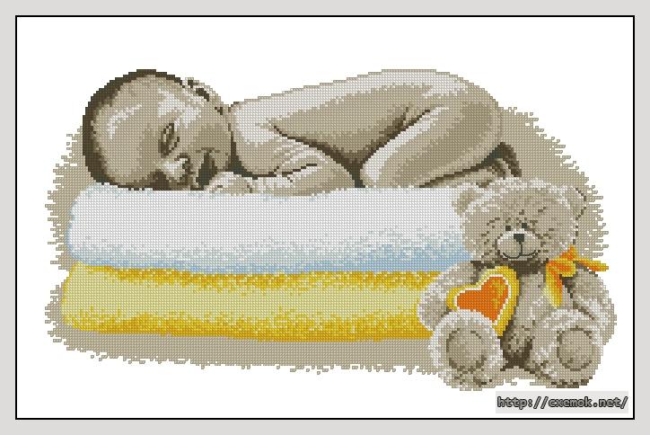 Схему Вышивки Крестом Новорожденный На Руках