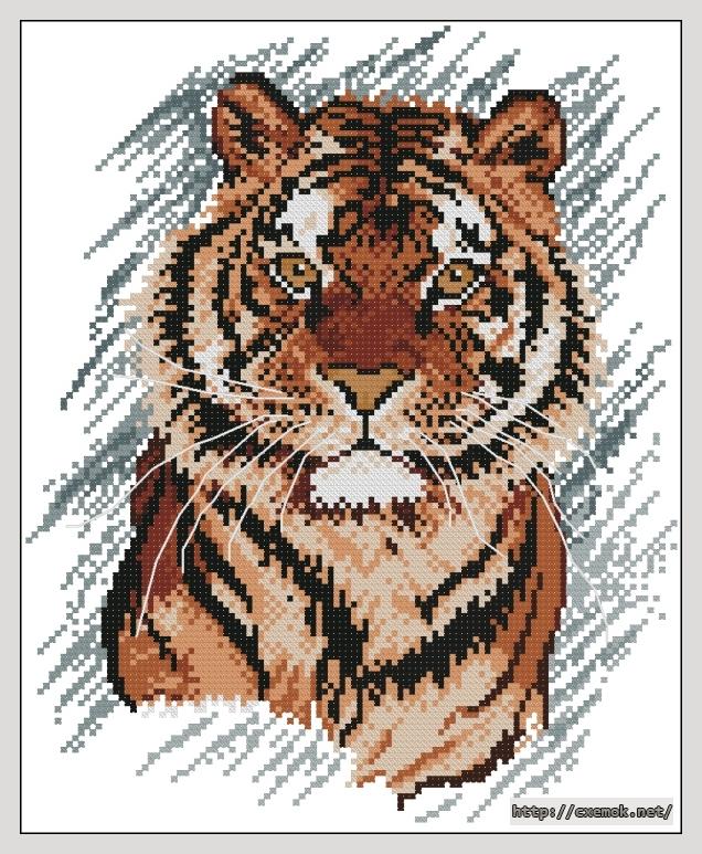 Тигр112x137 крестов15 цветов