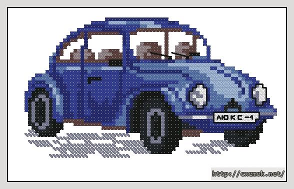 Синий автомобиль72x40