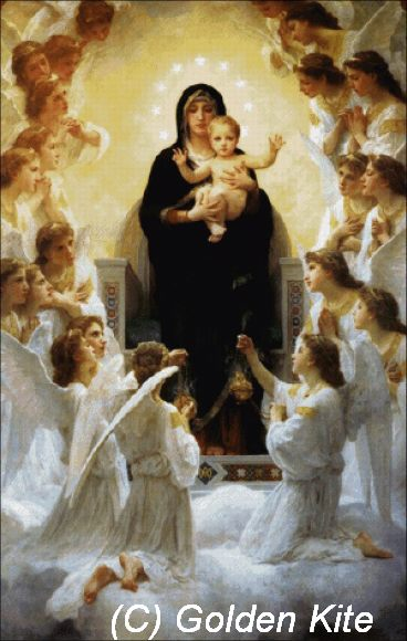 The virgin with angels300x473