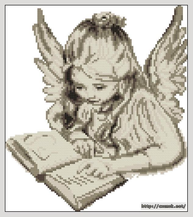 Ангел с книгой107x121 крестов6