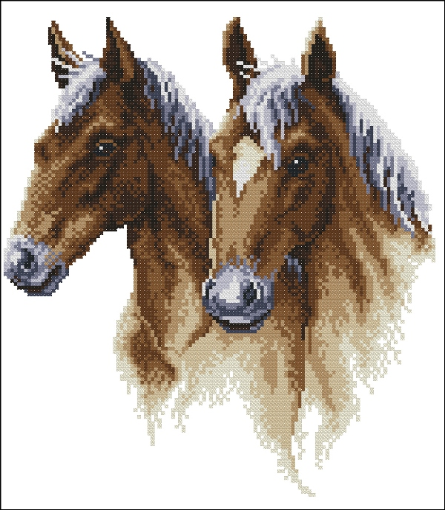 Cхемы вышивка бисером лошади