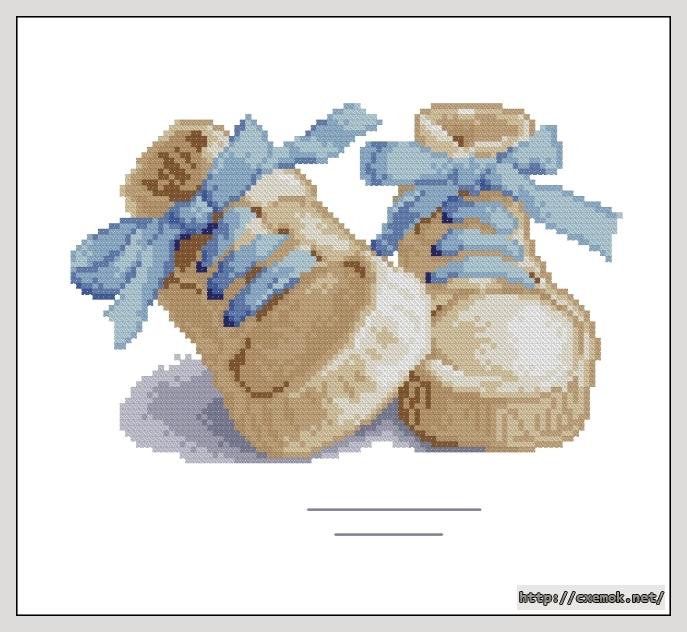 Cхемы схема вышивки пинетки