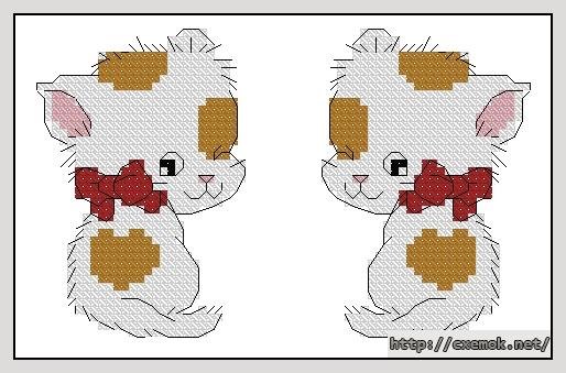 Котик-брелок64x40 крестов5