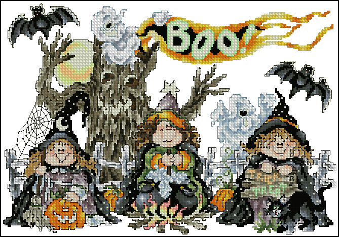 Скачать схему вышивки the witches of booville