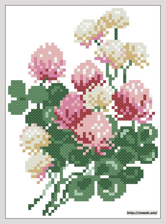 Клевер52x72 крестов9 цветов