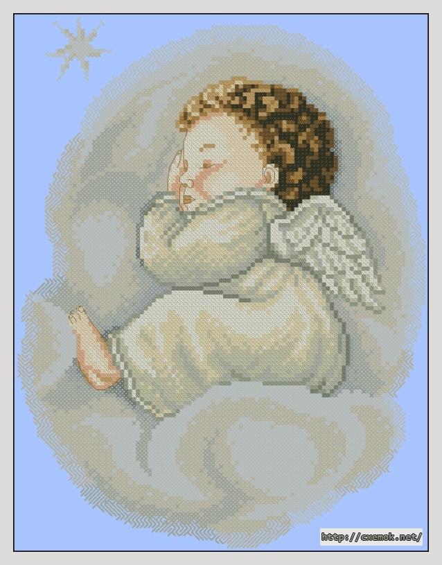 Спящий ангел103x134 крестов19