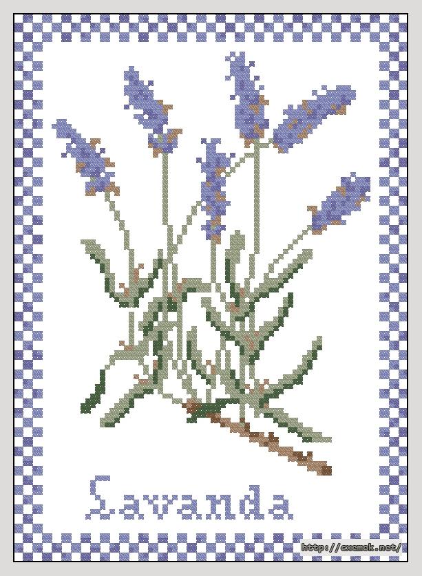 Лаванда82x114 крестов6 цветов