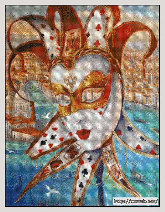 Венецианская маска170x222