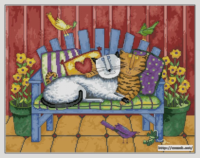 Схемы вышивки художник кот 77