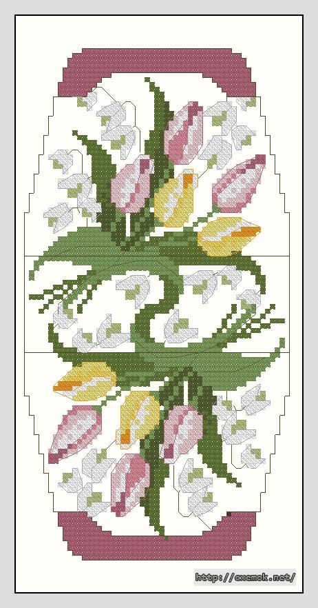 Тюльпаны55x106 крестов13