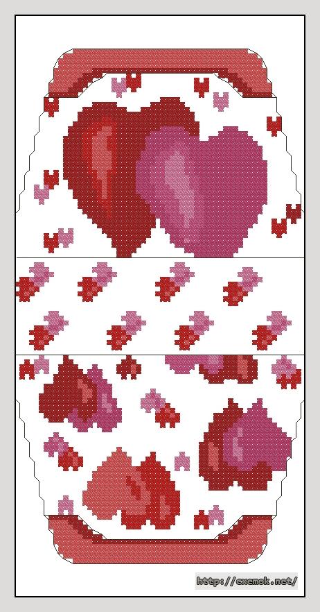 Сердечки60x106 крестов7 цветов