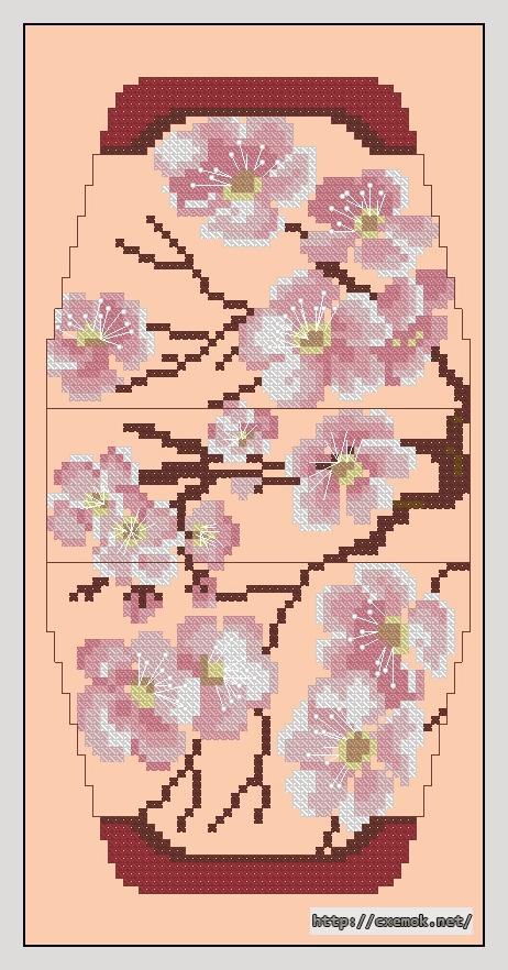 Сакура55x106 крестов9 цветов