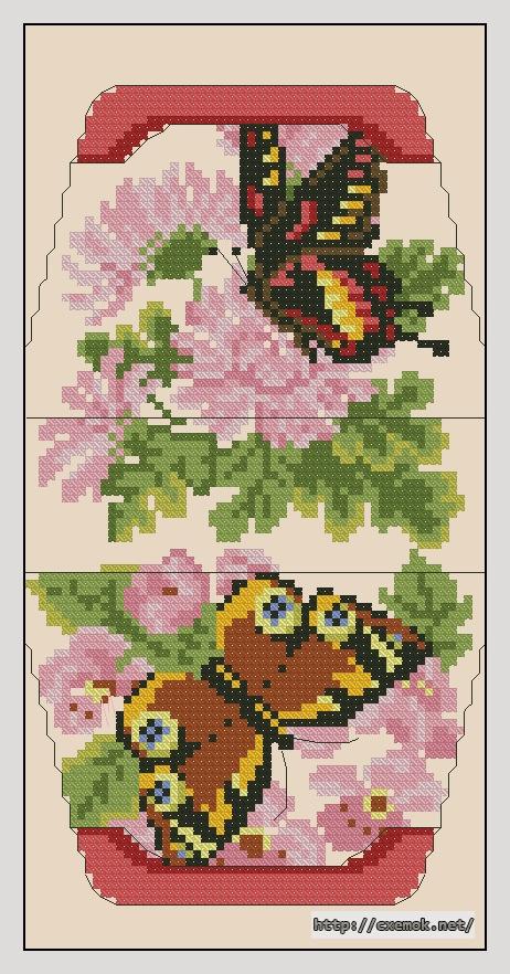 Бабочки60x106 крестов14 цветов