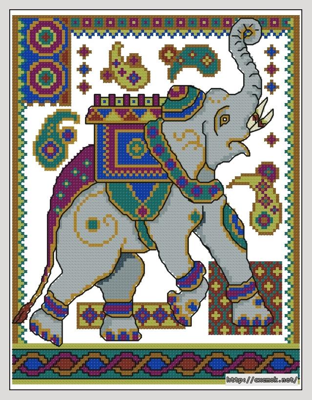 Индийский слон98x126 крестов12