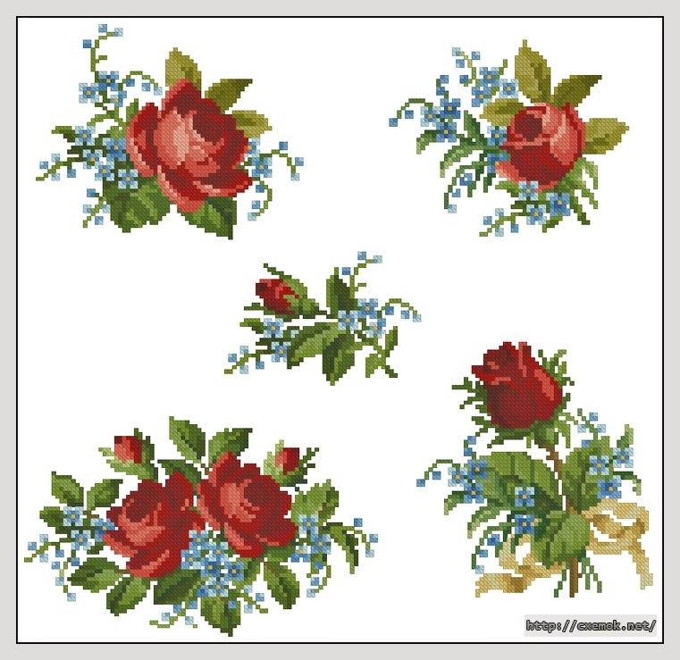 Скачать схемы вышивки Розы