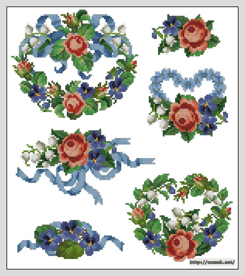 """Сачать схему вышивки """"Roses"""