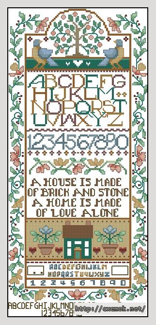 Home sampler95x210 крестов27