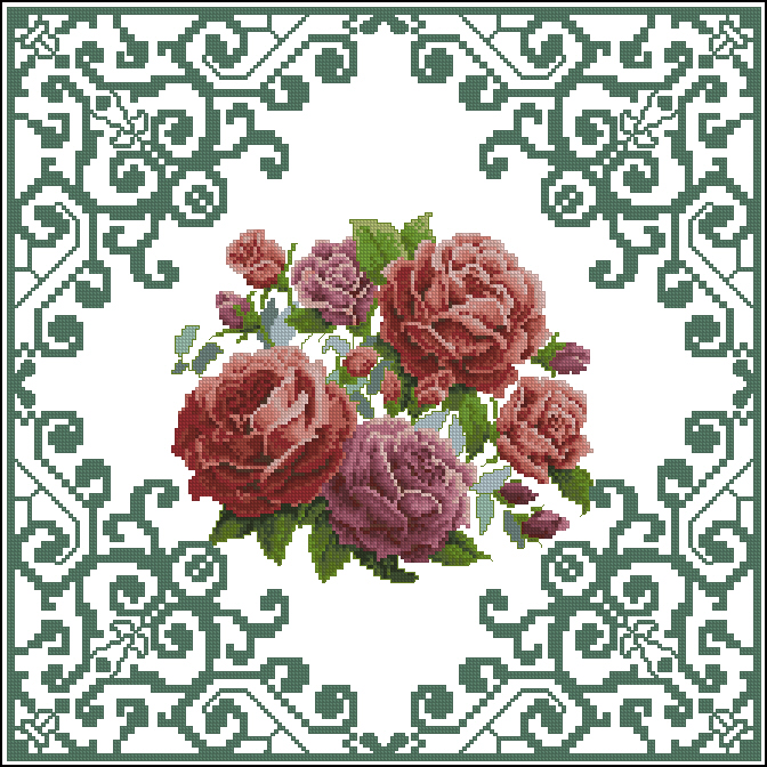 Cхемы подушка риолис розы