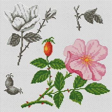 Fleurs112x112 крестов15 цветов