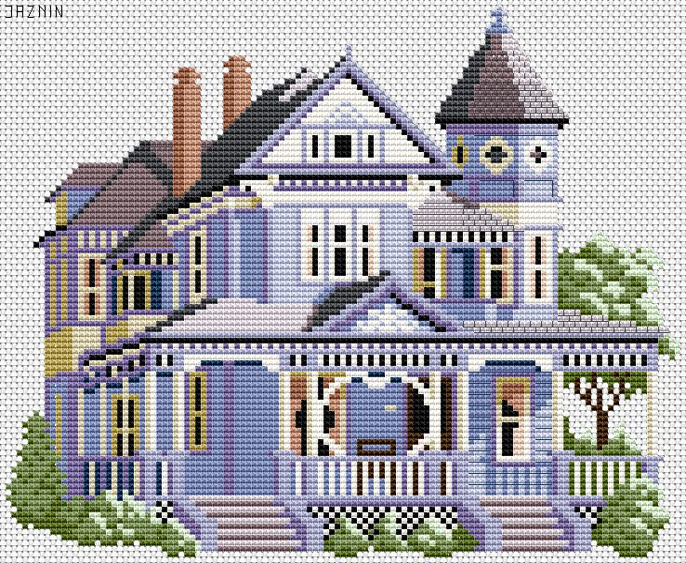Схема вышивки дом привидений